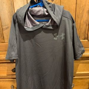 UA textures tech short sleeved hoody